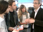 Los tres ganadores departen con David Ordiales, Director y Coordinador Región Norte del Fnac España