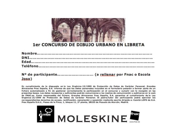 Concurso De Dibujo Urbano En Libreta Fnac Madrid: Boletín De Suscripción Para El Primer Concurso De Dibujo